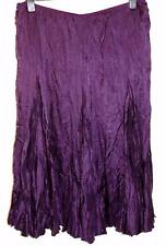 NEW MONSOON PURPLE CUPRO BOHO HIPPY CRINKLE PULL ON SKIRT SIZ 18  #293
