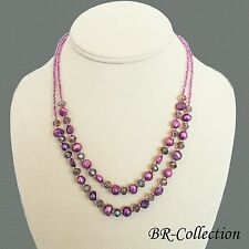 Freshwater Pearl and Crystal Glass Necklace