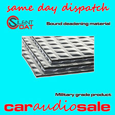 SILENT COAT DOOR KIT CAR SOUND DEADENING DAMPENING PROOFING MATERIAL 8 SHEETS