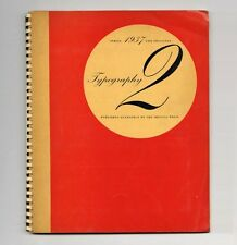 1937 Robert Harling TYPOGRAPHY 2 Avant-Garde Graphic Design Shenval Press RARE