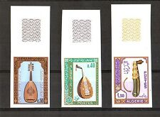 Algeria  1968 - Musical Instruments , Scott# 390/92  - Imperforate Set , Margins