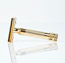 MERKUR Rasierhobel 34 G 34G gold plated safety razor double edge Solingen