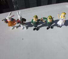 Vintage Alice In Wonderland Rare PVC Figurines Set of 5 Yarto UK Alice, Herald