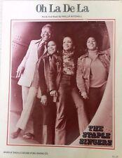 """THE STAPLE SINGERS """"OH LA DE LA"""" PIANO/VOCAL/GUITAR SHEET MUSIC 1973 RARE SALE!!"""