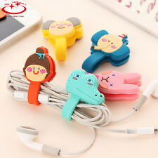 5pcs Headphone Earphone Earbud Silicone Cable Cord Wrap Winder Organizer Holder