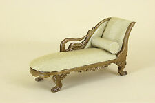 Dollhouse Miniature  WEXBURGH ROYAL SWAN CHAISE  6383-AG-NWN  BESPAQ DIRECT
