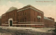 State Armory in Manchester NH Postcard 1910