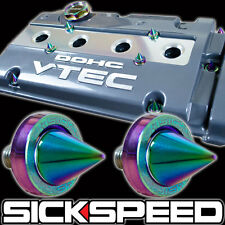 5 PC NEO CHROME SPIKED ANODIZED ALUMINIUM VALVE COVER WASHER KIT D-SERIES HONDA