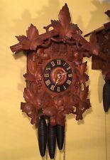 Huge Early Black Forest G K Kuner Kuehl Cuckoo Quail German Wall Clock