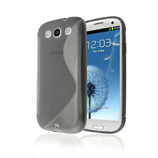 SGS III GRIP S-LINE SOFT SILICONE GEL SMOKE CASE for Samsung i9300 Galaxy S3
