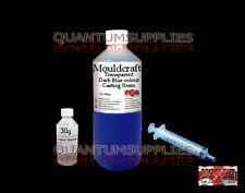500g MOULDCRAFT TRANSPARENT DARK BLUE COLOUR CASTING RESIN KIT USES : JEWELLERY