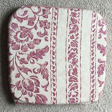 Réversible coussin pad pour tabouret de bar chaise siège, rose, avoine et rose poudré