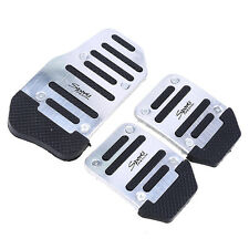 Manual Car Pedals Pad Brake Covers Universal Fit Silvery