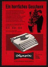 3w865/ Alte Reklame - von 1961 - Schreibmaschinen - OLYMPIA-Werke Wilhelmshaven