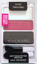 Wet n Wild Eye Shadow Palette Trio # 34167 Three's A Party Limited Edition VHTF
