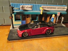 HOTWHEELS BLACK&BURGUNDY MERCEDES BENZ AMG CLK - 1/64 SCALE