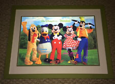 WALT DISNEY WORLD DISNEYLAND FRAMED MICKEY & MINNIE MOUSE PLUTTO DONALD GOOFY