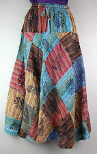 Patchwork Hippy Gypsy Cotton Wrap Skirt Dress Batik Handmade FAIRTRADE S001