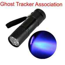 ghost hunting UV torch 9 LED paranormal flashlight ultraviolet equipment lamp