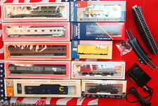 10 NEW HO Scale Train Lot, Bachmann, Life-Like, Con-Cor, With Rails Power Supply