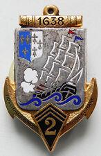 INSIGNE TROUPES DE MARINE - 2° Régiment d'Infanterie de Marine