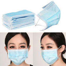 HOT 50PCs Disposable Medical Ear Loop Mouth Face Mask Anti-Dust Mouth Cover