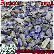5 Small 10mm Combo Ship Tumbled Gem Stone Crystal Natural - Lapis Lazuli Gray