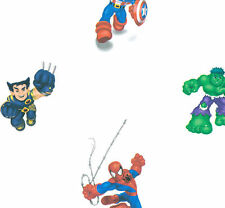 Marvel Kids Spiderman & Friends on Sure Strip Wallpaper BZ9131