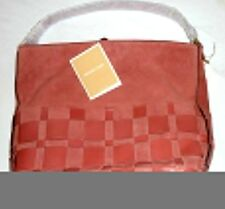 NEW Michael Kors Vivian Large Woven Suede and Leather Hobo, Cinnamon(Red).