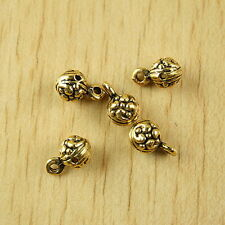 25pcs dark gold-tone flower-ball charms findings h1982