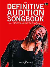Definitive Audition Songbook + Sing-Along CD Piano Voice Sheet Music Chords B48