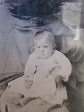 """ANTIQUE AMERICAN HIDDEN """"MOTHER"""" AFRICAN AMERICAN NANNY MAMMY RARE TINTYPE PHOTO"""