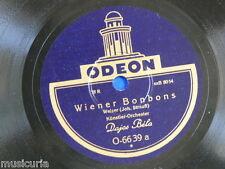 """78rpm 12"""" DAJOS BELA strauss wiener bonbons / du und du ODEON 6639"""
