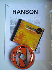 "HANSON ""MIDDLE OF NOWHERE"" SPANISH PRESS KIT CD + 5 PAGES DOSSIER IN SPANISH"