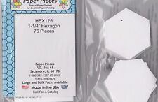 "1.25"" Hexagon - English Paper Piecing templates - pack of 75"