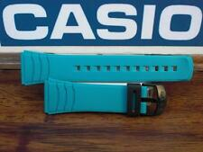 Casio Watch Band DBC-32  Data Bank Turqoise/Aqua Rubber Strap 22mm
