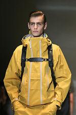 GUCCI $1,950 bonded yellow taped seam windbreaker SS14 tech shell jacket 52 NEW
