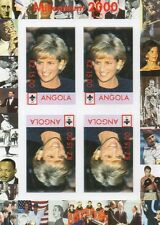 PRINCESS DIANA MILLENNIUM 2000 ANGOLA MNH IMPERFORATED STAMP SHEETLET