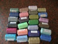 25 X 1000 YARDS  POLYESTER THREAD MIXED PACK - BUNDLE -/BAG ASSORTED COLOURS