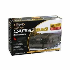 Rooftop Cargo Carrier Roof Rack SUV Bag Car Auto Top Waterproof Enclosed Deluxe