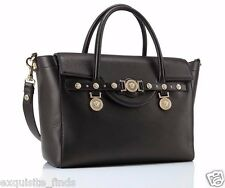 New VERSACE Large Signature Bag in Black Leather