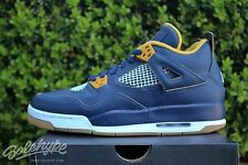 NIKE AIR JORDAN 4 RETRO GS IV SZ 7 Y MIDNIGHT NAVY DUNK FROM ABOVE 408452 425
