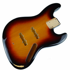 Jazz Bass Electric Guitar Body 2 Piece USA Alder - 3 Colour Sunburst