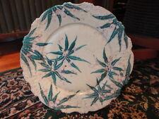 """Porcelain Tropical Palm Floral Plate 9 1/2"""" w Vintage"""
