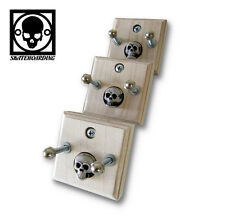 3-Pk Skateboard Display Wall Mount Hanger rack Maple Old School Skull vintage