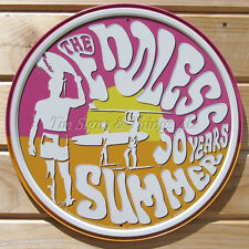 Endless Summer ROUND metal TIN SIGN home bar vintage surf shack wall decor 1908