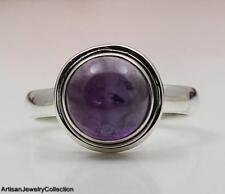 AMETHYST & 925 STERLING SILVER RING JEWELRY SIZE 9