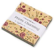"Prints Charming Moda Charm Pack 42 100% Cotton 5"" Precut Quilt Squares"