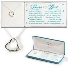 "'Forever in my Heart' Necklace, Silver Plated on 18"" Chain by Dicksons"