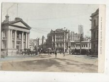 Custom House Square Dunedin New Zealand Vintage Postcard 915a